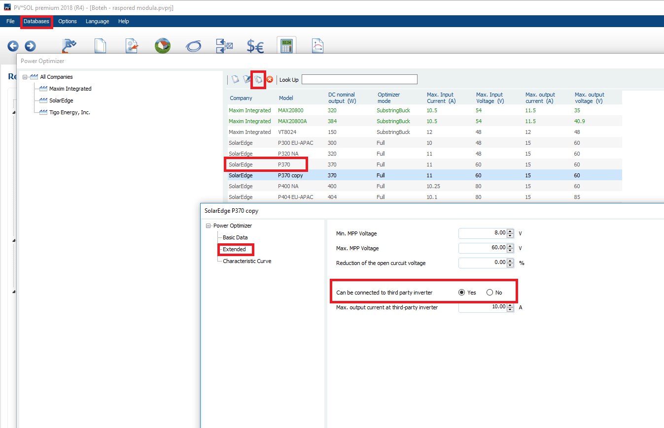 Power optimizer and string connection - PV*SOL - Forum